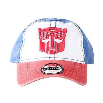 Transformers Baseball Cap Autobots logo nödställda nya officiella Strapback