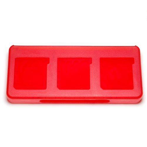 Game case for nintendo 3ds 2ds ds 6 in 1 card holder storage box - red