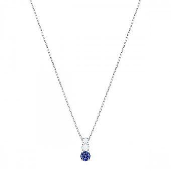 Swarovski krystall tiltrekke Trilogy blå halskjede 5416156