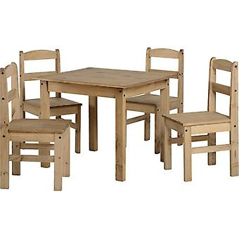 Panama Dining Set Natural Wax