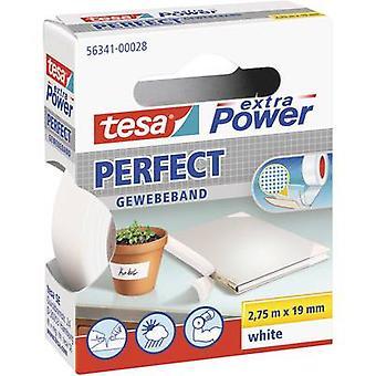 tesa 56341-00028-02 شريط القماش tesa® أبيض الطاقة الزائدة (L x W) 2.75 م × 19 ملم 2.75 م