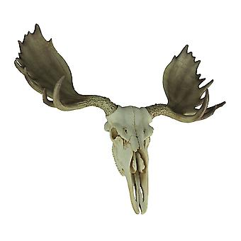 Large Lifelike Bull Moose Skull Hanging Wildlife Decor Statue