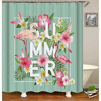 Summer Vibes Flamingo Shower Curtain