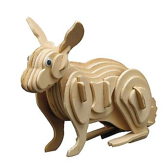 Siva Toy858/3 Wood Construction Rabbit Toy