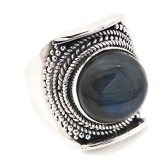 Ring Silver 925 Sterling Hopea Labradorite Stone (Nr: MRI 130-05)