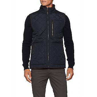 Joules Halesworth Mens Quilted Gilet Con Fleece Lining - Marine Navy