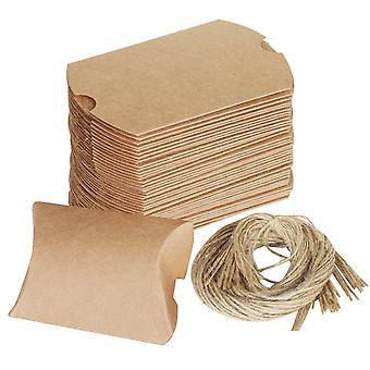 Rustic Wedding favor regalo cajas 100PC conjunto con hacer guita DIY su propio - por TRIXES