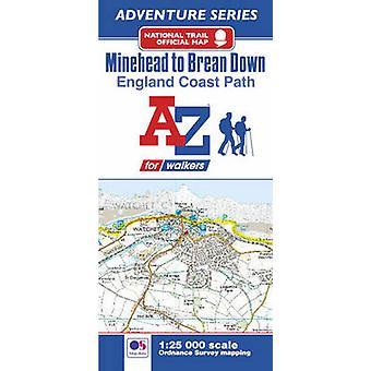 Engelse kust pad Minehead aan Brean avontuur kaart