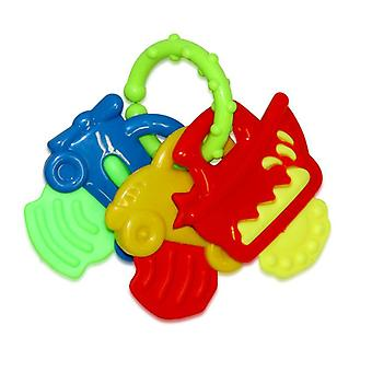 Baby rattle and gripper keychain many shapes and colors from birth