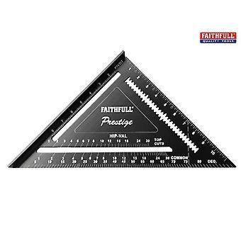 Faithfull Prestige Quick Square Black Aluminium 300mm (12in)