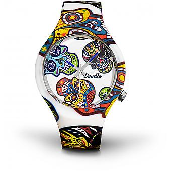 Watch Doodle CALAVERAS MOOD DOCA002 - white 39mm male/female
