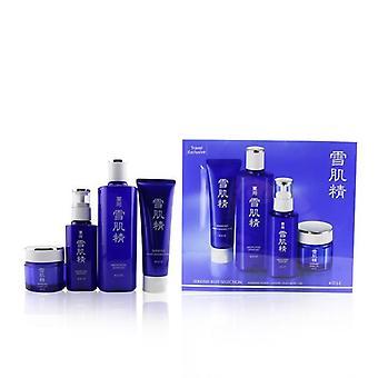 Kose Sekkisei Best Selection Set: Medicated Sekkisei 360ml + Sekkisei Emulsion 140ml + Washing Foam 130g + Herbal Gel 80g - 4pcs
