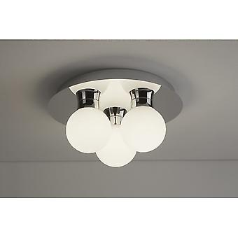 THLC Contemporary Led Bathroom Ceiling Light In Polished Chrome Finish Ip44