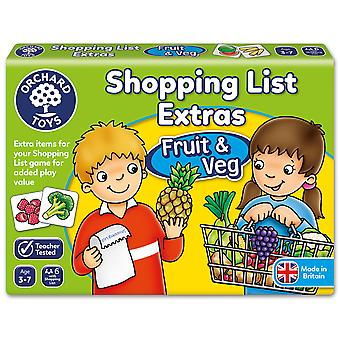 Orchard Toys Shopping Liste Extras Obst und Gemüse