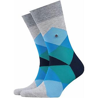 Burlington Clyde Socks - Grey/Blue/Green