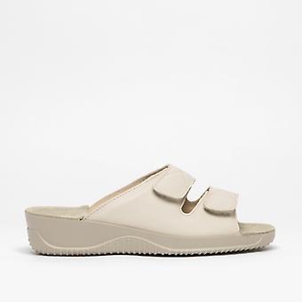 Rohde 1940 Ladies Leather Mule Sandal Cream