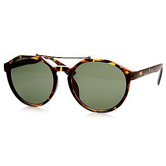 Euro trave estilosa fechadura redonda óculos de sol