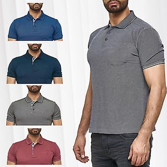 Men Basic Poloshirt Uni short sleeve collar summer club shirt cotton design