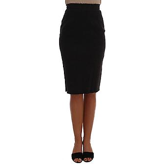 Dolce & Gabbana Gray Wool Pencil Skirt