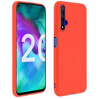 Case for Honor 20 / Huawei Nova 5T, soft touch cover, silicone case - Red