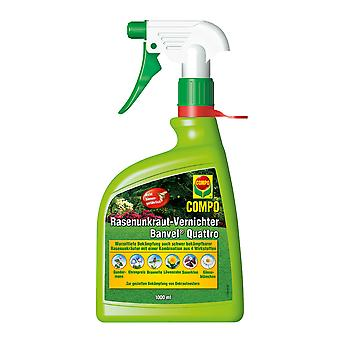 COMPO Lawn Weed Killer Banvel® Quattro AF, 1000 ml