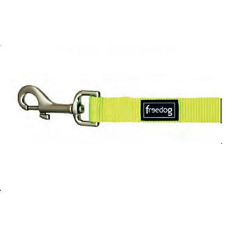 Freedog Handle Nylon Neon Color Green Fluor for Dogs