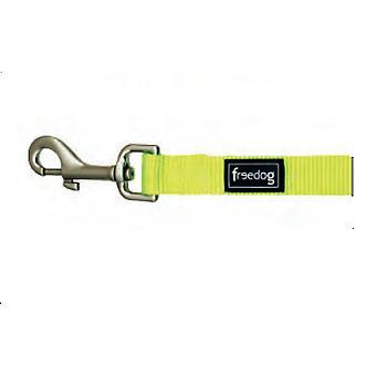 Freedog handvat Nylon Neon kleur groen Fluor voor honden