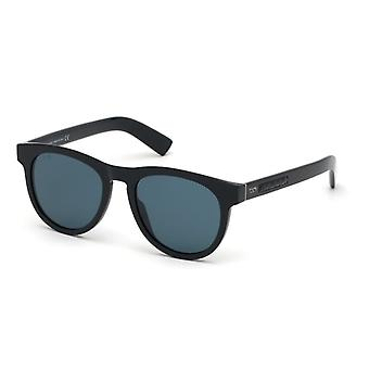 Tods TO0244 01N Shiny Black/Green Sunglasses