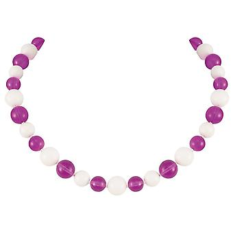 Eternal Collection Jamboree Purple And White Czech Glass Beaded Necklace