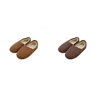 Eastern Counties Leather Mens Dominic Wool-blend Slippers