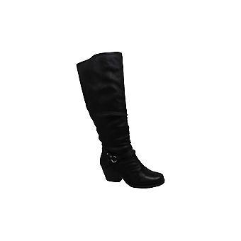 عارية الفخاخ المرأة روز 2 النسيج اللوز تو الركبة أحذية الأزياء عالية