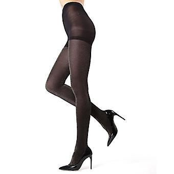 MeMoi Stockholm Glitter Strumpfhosen - schöne Glam Legwear für Frauen Schwarz/Silve...