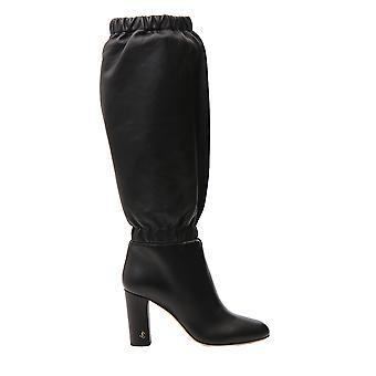 Jimmy Choo Maxyn85resblack Women's Black Leather Boots