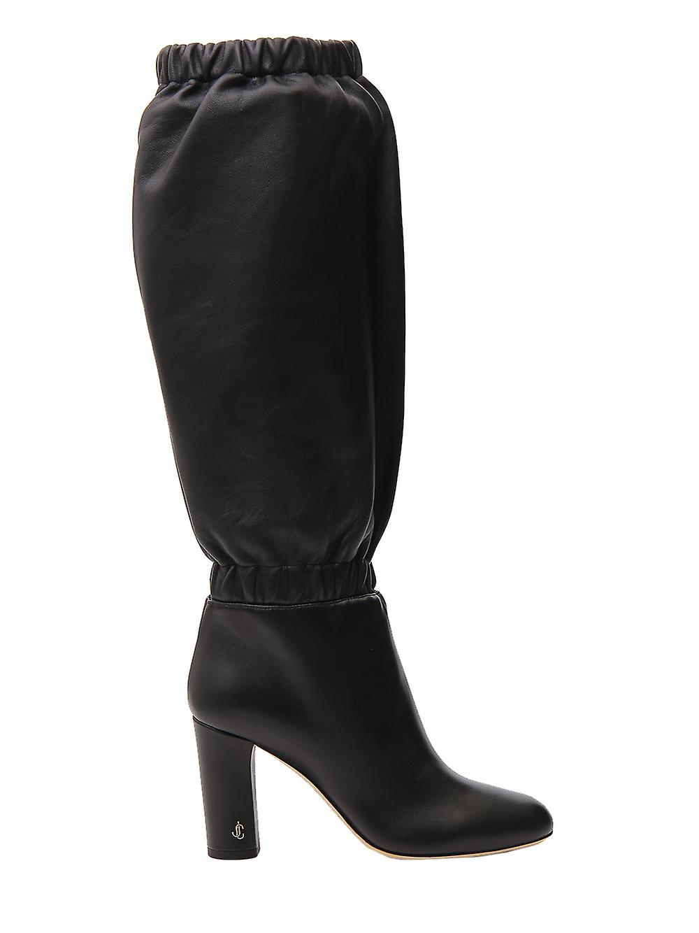 Jimmy Choo Maxyn85resblack Women-apos;s Black Leather Boots Cho