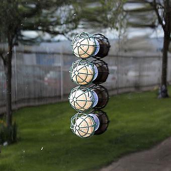 Zimorodek dziki ptak Feeder wiszące lub ssania okna montowane 4 Ball tłuszczu Ball Łój