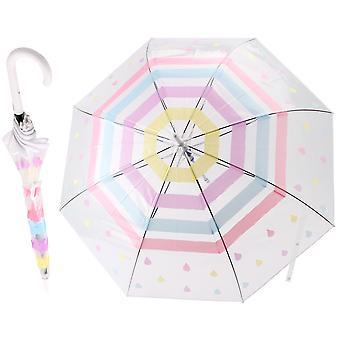 Willow & Rose Unisex Volwassenen Gestreepte Stok Paraplu