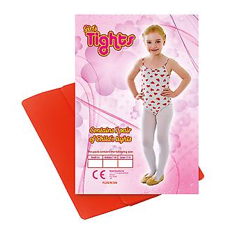 Childs Tights Red 4/6 Small