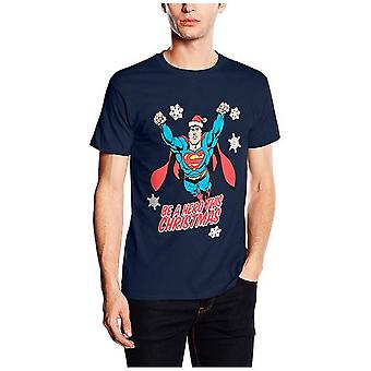 Superman Unisex Adults Christmas Hero Design T-Shirt