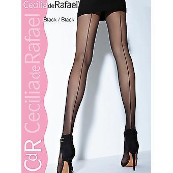 Cecilia de Rafael Hyde Park Back Seam Tights XL Available