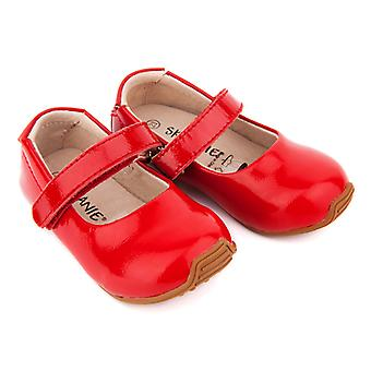 SKEANIE Toddler and Kids Leather Mary-Jane Shoes in Patent Red