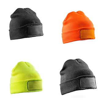 Result Adults Unisex Double Knit Thinsulate Printers Beanie