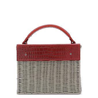 Wicker Wings Kuaiwithcrocred Women's Grey/red Canvas Handbag