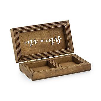 Wooden Wedding Ring Box - Rustic Wedding Keepsake