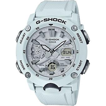 G-Shock Watches Ga-2000s-7aer Carbon Core Guard White Resin Analogue & Digital Watch