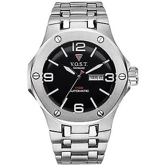 V.O.S.T. Germany V100.016 Steel automatic men's watch 44mm