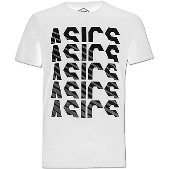 Asics GPX Fade manga corta Hombres Running Fitness Training Camiseta camiseta blanca