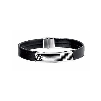 ZOPPINI Stainless Steel Leather Bracelet