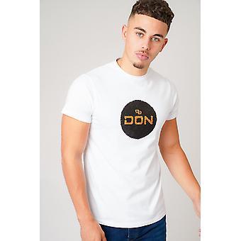 Don pailletten wit t-shirt