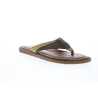 Tommy Bahama Anchors Ashore  Mens Brown Flip-Flops Sandals Shoes