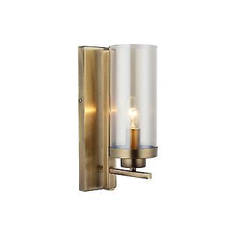 Lámpara de pared Elenora Color cobre metal, vidrio, L10xP18xA32 cm
